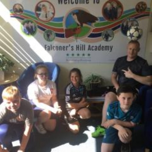 Daventry's Falconer's Hill Academy welcomes football freestyler